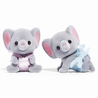 Calico Critters Elllwoods Elephant Twins